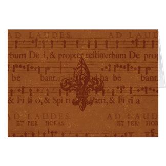 Flor de lis do Velho Mundo Cartão Comemorativo