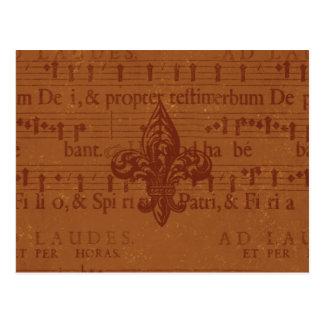 Flor de lis do Velho Mundo Cartão Postal