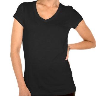 Flor de lis dourada do Fractal na fita do cetim do Camiseta