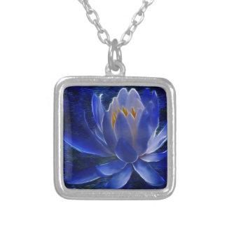 Flor de Lotus e seu significado Colar Com Pendente Quadrado