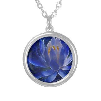 Flor de Lotus e seu significado Colar Com Pendente Redondo