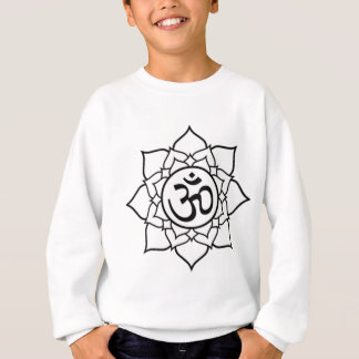 Flor de Lotus, preta com fundo branco Agasalho