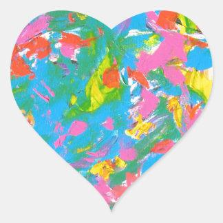 Flor de néon - arte abstracta adesivo de coração