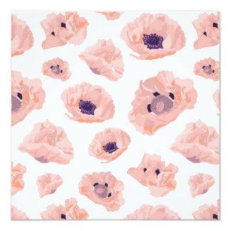 Flor de papoila cartão de convite lachs/lilás