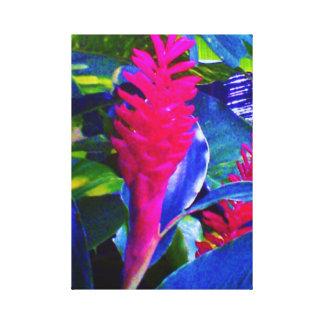 Flor de paraíso impressão de canvas envolvida