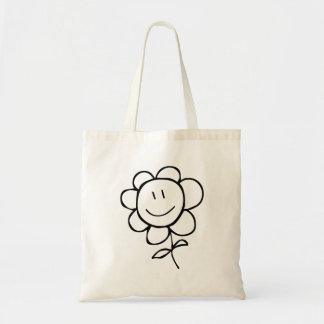 Flor de sorriso dos desenhos animados bolsa