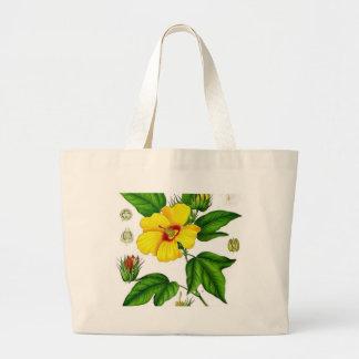 Flor do algodão bolsas de lona
