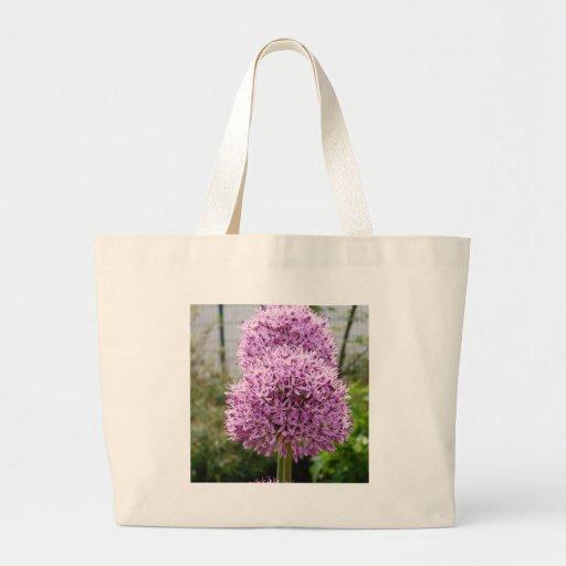 Flor do Allium de Violett Bolsas Para Compras