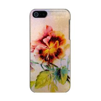 Flor do amor perfeito feminino para ela capa incipio feather® shine para iPhone 5