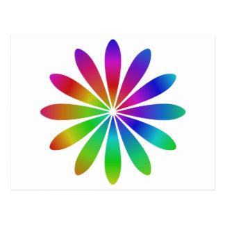 Flor do arco-íris cartão postal