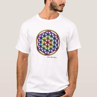 Flor do arco-íris da camiseta da vida