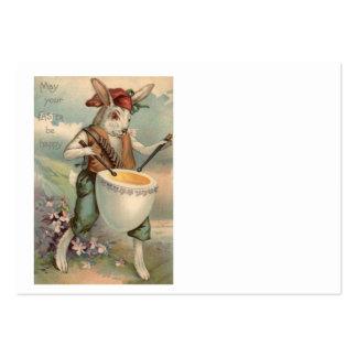 Flor do baterista do cilindro do ovo do coelhinho cartão de visita grande