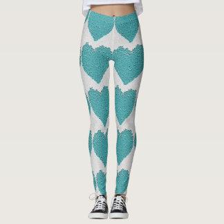 Flor do coração do design de Legging
