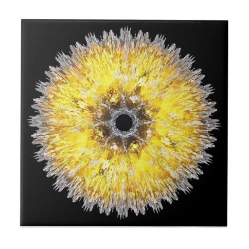 Flor do espaço azulejo