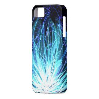 Flor do fogo azul capa para iPhone 5