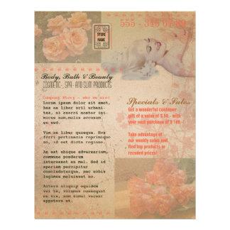 Flor do Grunge do vintage - insecto Panfleto Personalizado