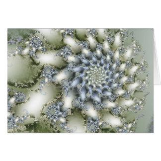 Flor do inverno com cumprimentos da estação cartão comemorativo