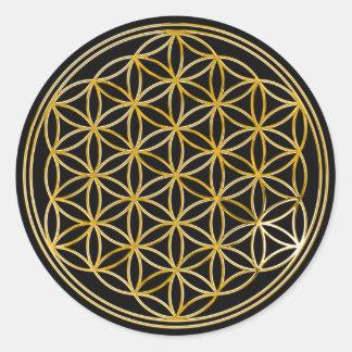 Flor do ouro da vida |, preto pequeno de | adesivo