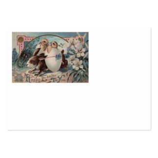 Flor do pintinho do ovo do coelhinho da Páscoa Cartão De Visita