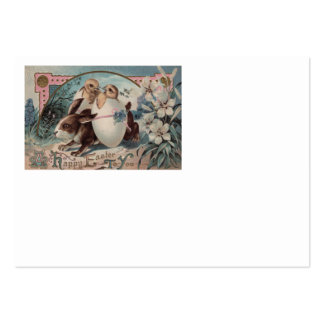 Flor do pintinho do ovo do coelhinho da Páscoa Cartão De Visita Grande