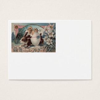 Flor do pintinho do ovo do coelhinho da Páscoa Cartão De Visitas