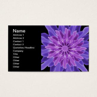 Flor do roxo da arte abstracta cartão de visitas