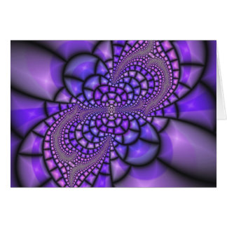 Flor do roxo do mosaico cartão