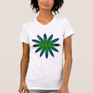 Flor do tubo do espaço do Fractal do Wormhole T-shirt