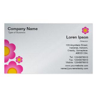 Flor do vetor - (cartão da platina) cartão de visita