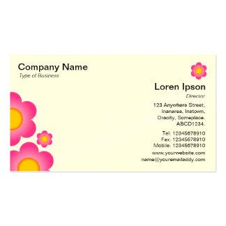 Flor do vetor - (cartão de creme) cartão de visita