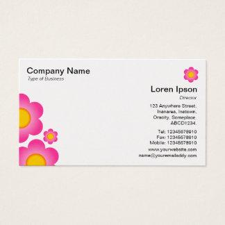 Flor do vetor - (cartão do ouro) cartão de visitas