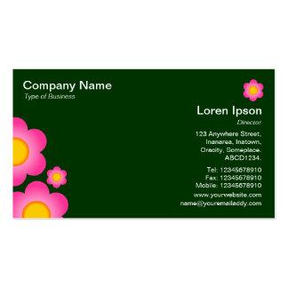 Flor do vetor - verde escuro cartão de visita