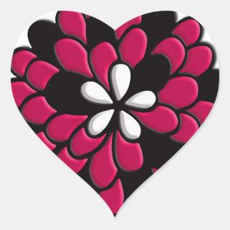Flor do vitral do rosa quente adesivos