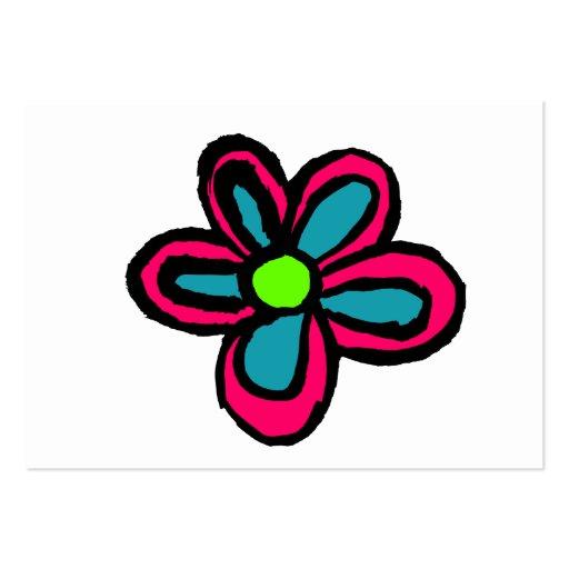 Flor dos desenhos animados modelos cartão de visita