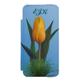 Flor dourada da tulipa, monograma
