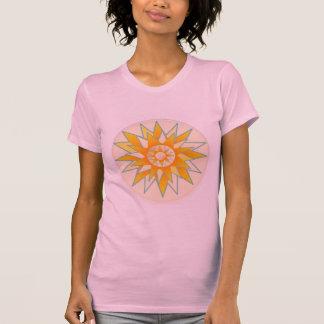 Flor dourada do brilho de Sun Camiseta