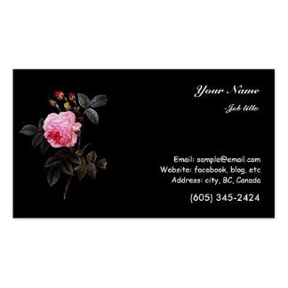 flor e botões do rosa do rosa cartões de visitas