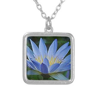 Flor e significado de Lotus Colar Com Pendente Quadrado