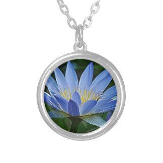 Flor e significado de Lotus Colar Com Pendente Redondo