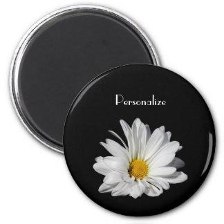 Flor elegante da margarida branca com nome imã