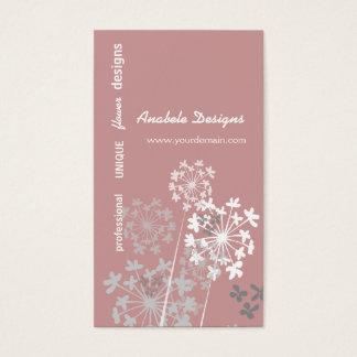 Flor elegante do jardim do verão do primavera da cartão de visitas