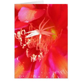 Flor elétrica cartão comemorativo