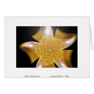Flor elétrica do bordo      … cartão comemorativo