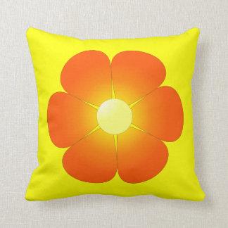 Flor ensolarada do verão travesseiros de decoração