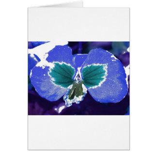 Flor feericamente escondida cartão comemorativo