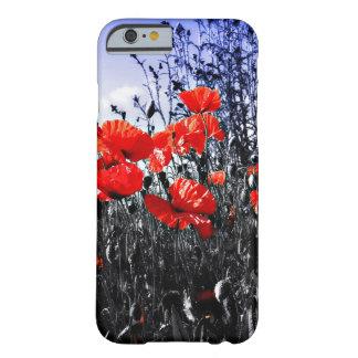 Flor floral da papoila das papoilas capa barely there para iPhone 6