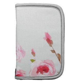 flor floral do boho do rosa cor-de-rosa da aguarel organizadores
