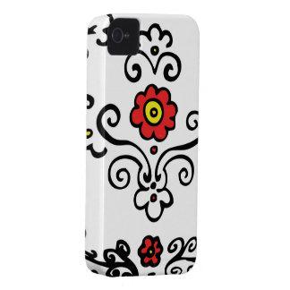 Flor floral do vermelho das capas de iphone