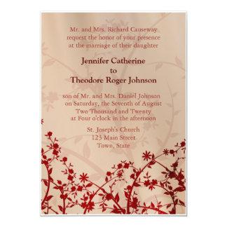 Flor floral vermelha das flores dos convites do