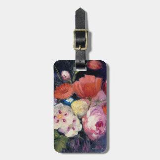 Flor fresca do primavera do corte etiqueta de bagagem
